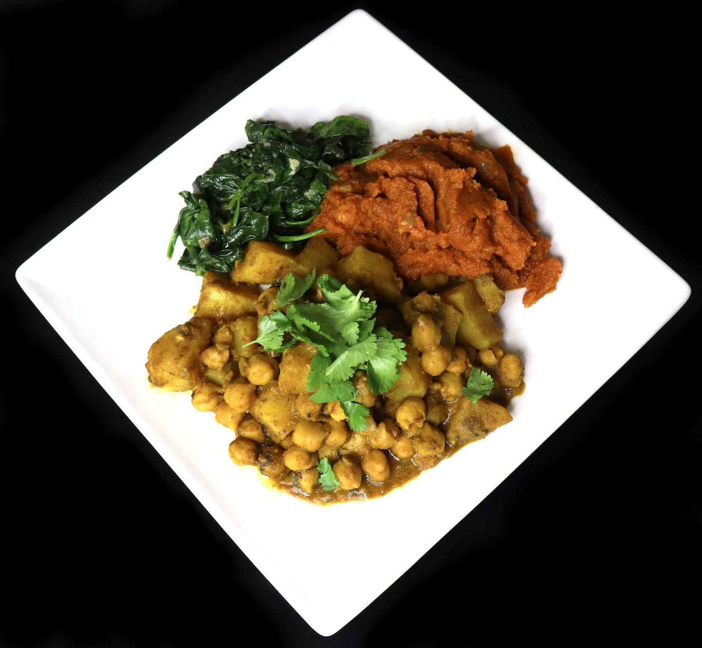 Curry Channa, Bhaghee and Pumpkin