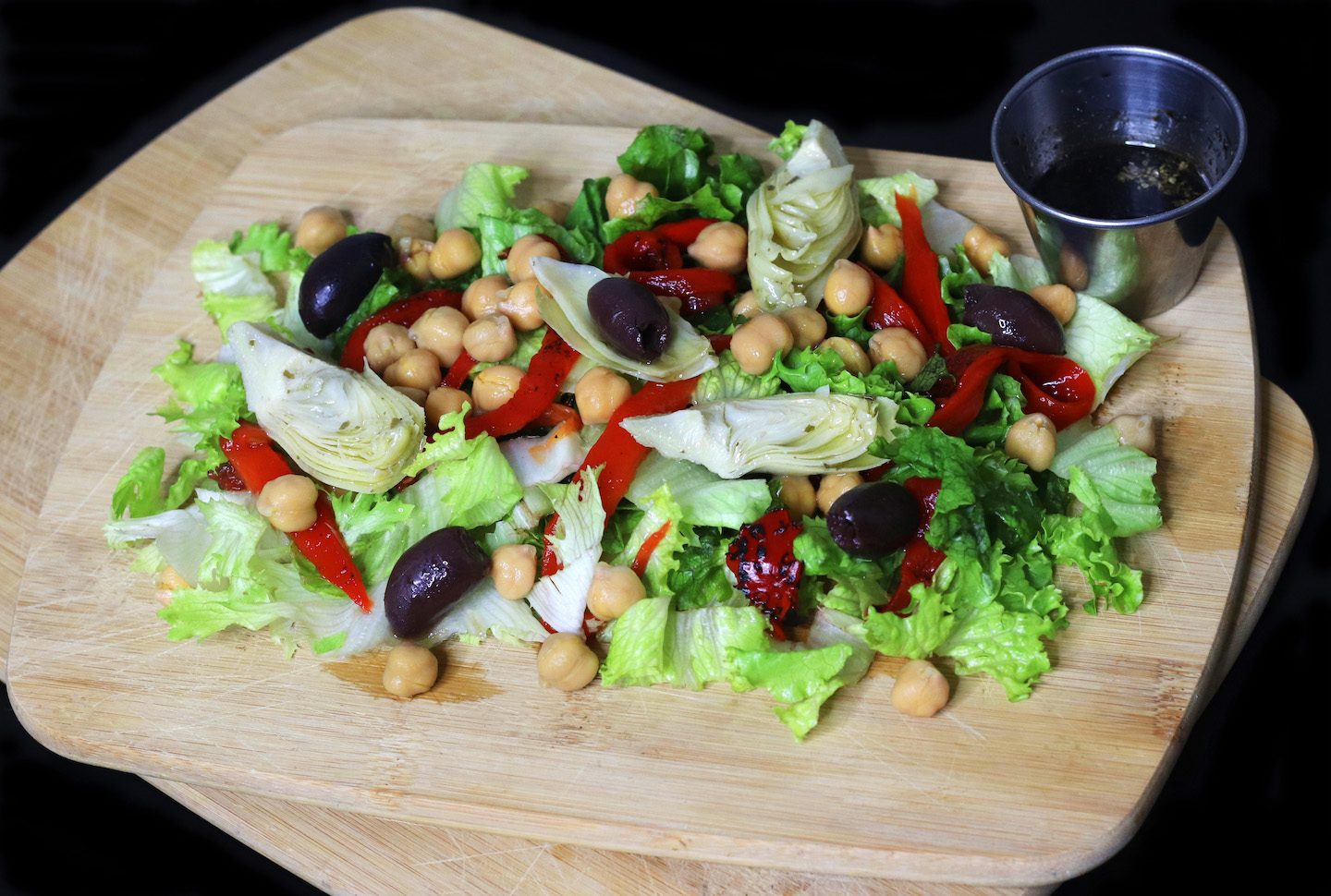 Mediterranean Chickpea Salad With Lemon Balsamic Vinaigrette