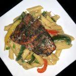 Gluten Free Jerk Salmon Rasta Pasta Recipe