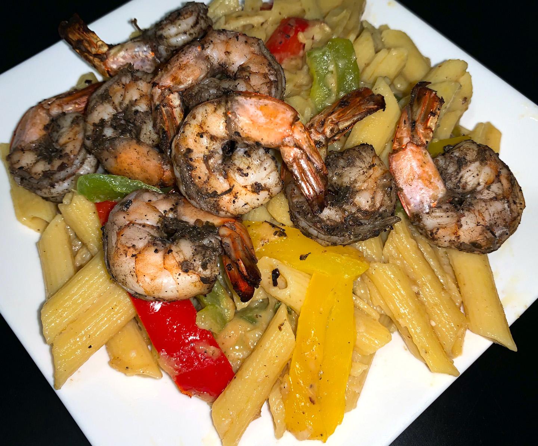 Jerk Shrimp Rasta Pasta Recipe