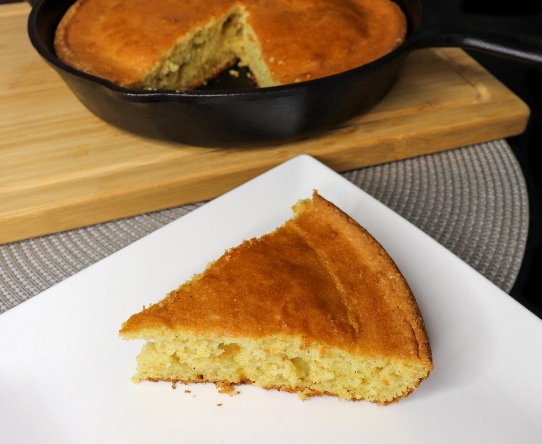 Homemade Sweet Skillet Cornbread Recipe