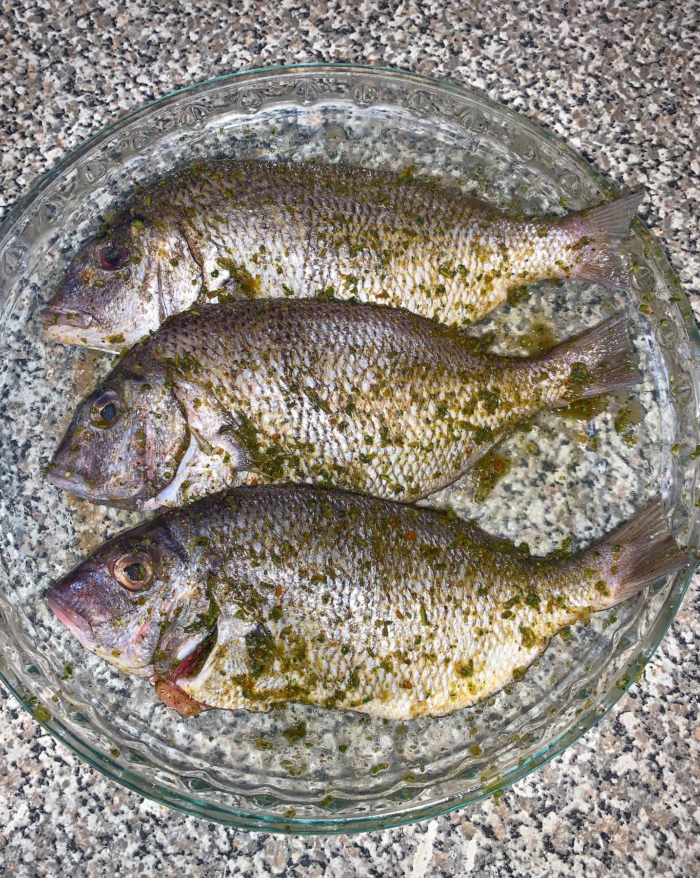 Marinated Porgie Fish